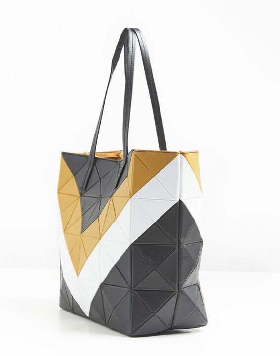 Ilari amber and black leather bag (3) - 1-2-3