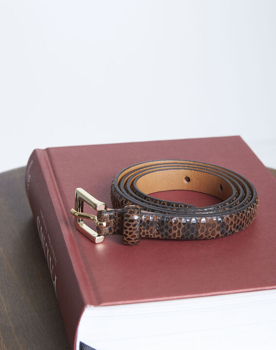 Ceinture en cuir effet python Alia PhotoZ | 1-2-3