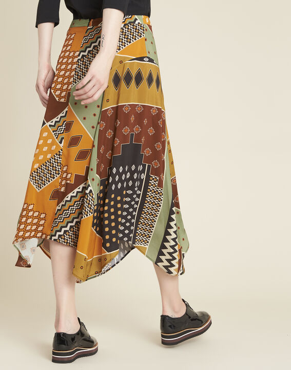Arome long printed patchwork skirt (4) - Maison 123