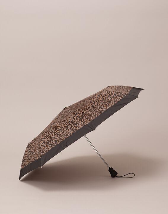 Parapluie marron imprimé animalier Rain PhotoZ | 1-2-3
