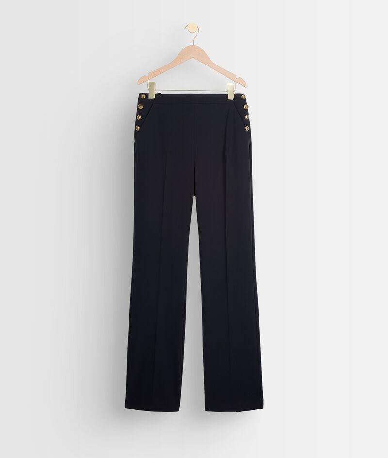 Pantalon de tailleur en microfibre marine David PhotoZ | 1-2-3