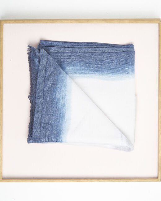Foulard bleu azur franges Flashback (1) - 1-2-3