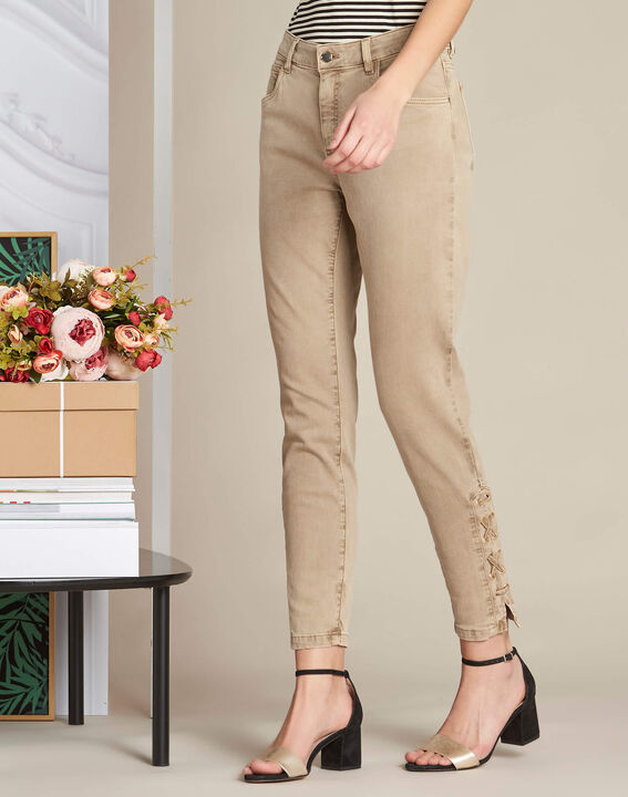 Vendôme 7/8th length slim-cut camel jeans (3) - 1-2-3