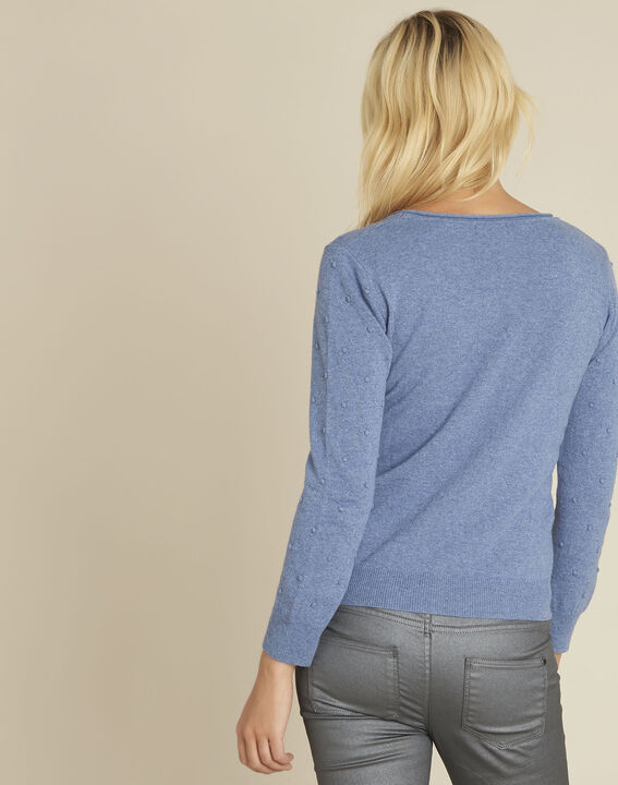 Beebop blue crew neck wool mix pullover (4) - 1-2-3