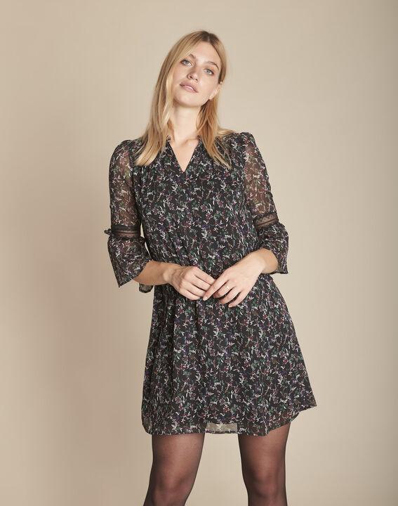 best service 5fcc9 0557b Kleid schwarz Blumenprint Inka