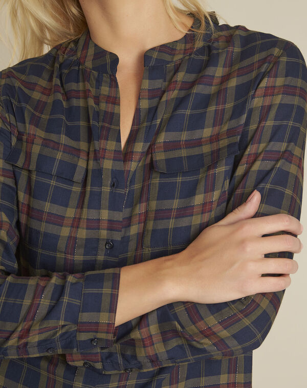 Cabas navy checked shirt (2) - 1-2-3