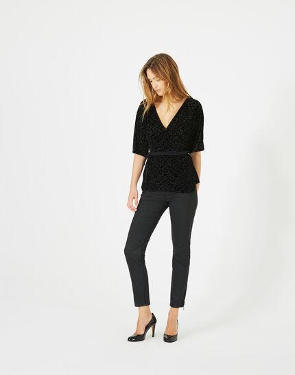 Tee-shirt noir effet dévoré Ballerina (3) - 1-2-3