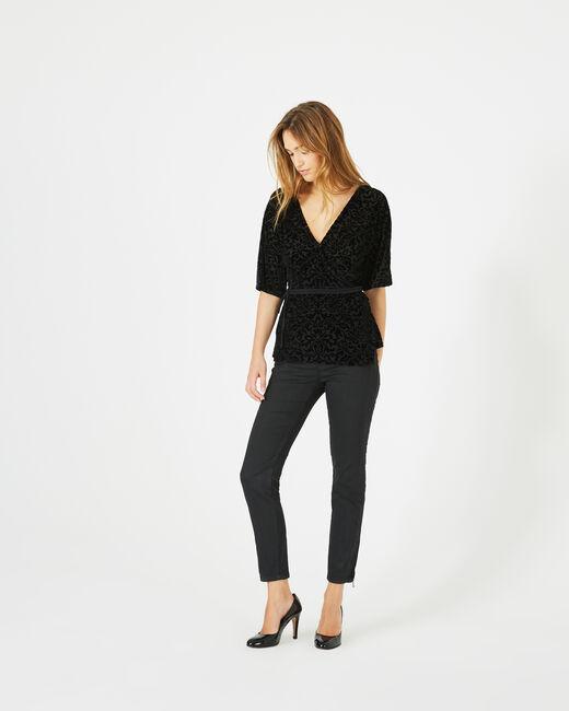 Tee-shirt noir effet dévoré Ballerina (2) - 1-2-3