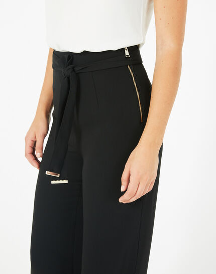 Voyou tailored black trousers with belt (3) - 1-2-3