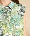 Ärmellose grüne Hemdbluse mit Palmenmotiv Galion PhotoZ | 1-2-3