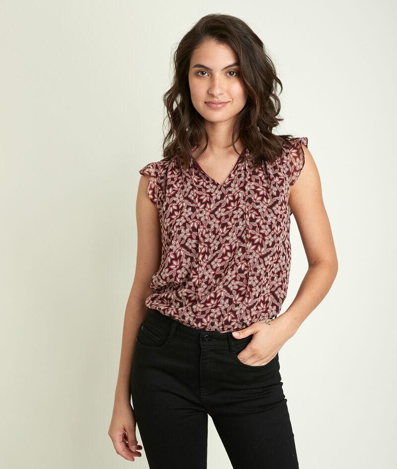 Bedrukte blouse Emmanuelle PhotoZ | 1-2-3