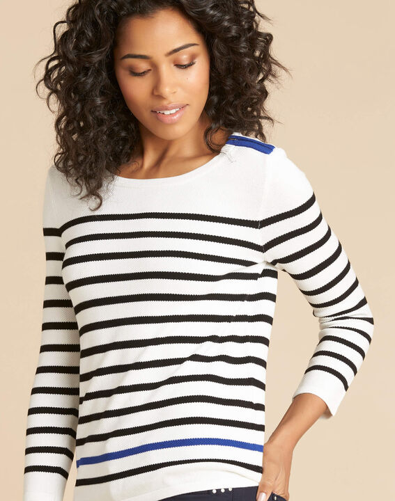 Navire blue and white striped sweater PhotoZ | 1-2-3