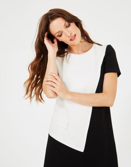 Robe noir et blanc graphique Ambre (5) - 1-2-3