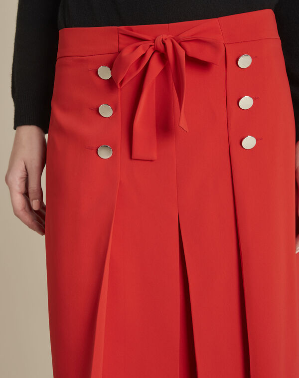 Alix red ruffle skirt with silver-look buttons (2) - 1-2-3