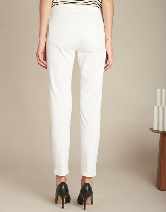 Turenne slim-cut white trousers with golden band (4) - 1-2-3