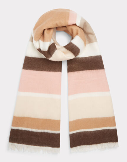 Ema pale pink striped scarf PhotoZ | 1-2-3