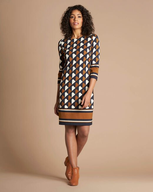 Delila graphic camel dress (2) - 1-2-3