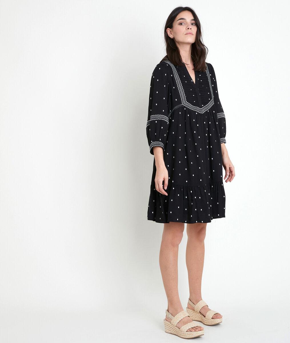 Robe noire brodée Larie PhotoZ | 1-2-3