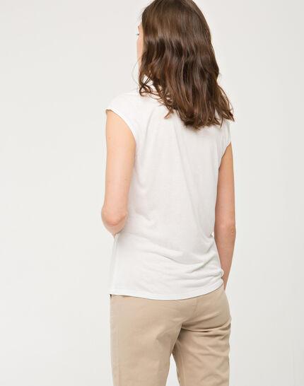 Ecrufarbenes T-Shirt mit Spitze Next (3) - 1-2-3