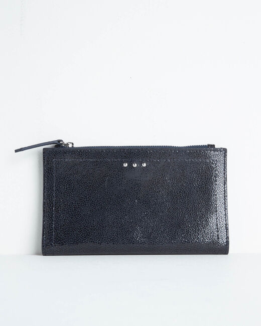 Dita wallet with two leather flaps in black (1) - 1-2-3