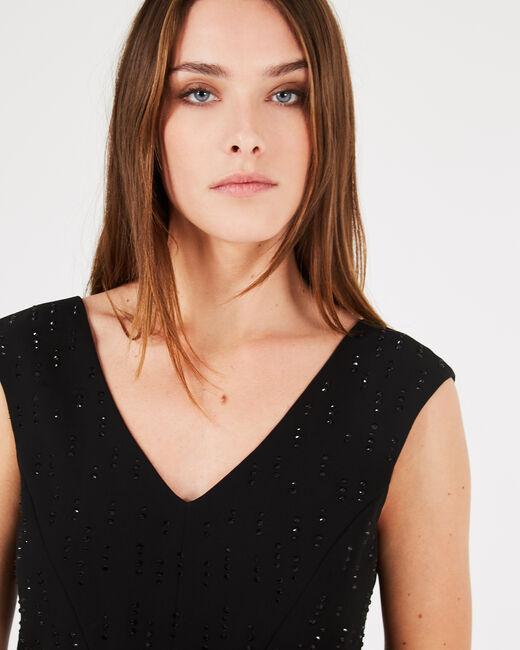 Gamma black dress with diamanté detailing (2) - 1-2-3