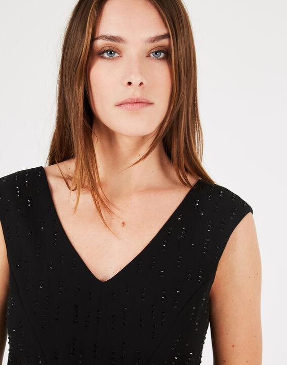 Gamma black dress with diamanté detailing (3) - 1-2-3