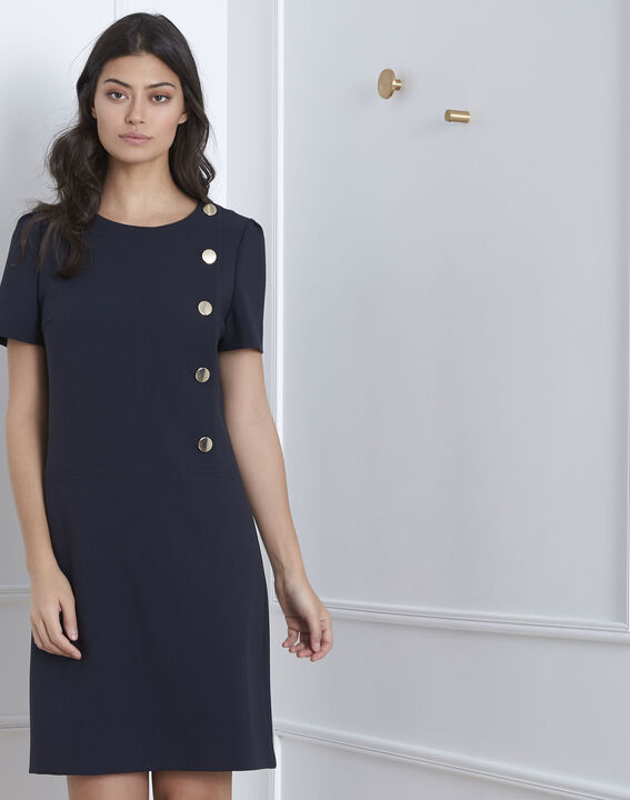 Robe marine à gros boutons Defi (1) - Maison 123