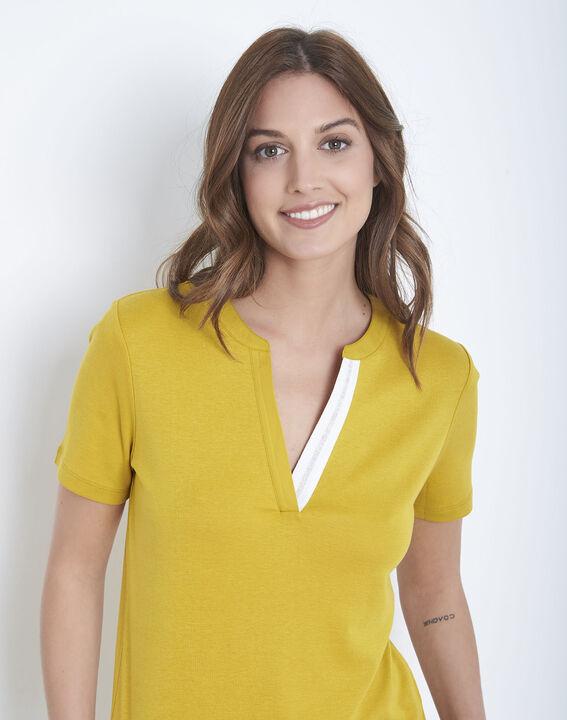 Tee-shirt anis encolure fantaisie Priscille (3) - Maison 123