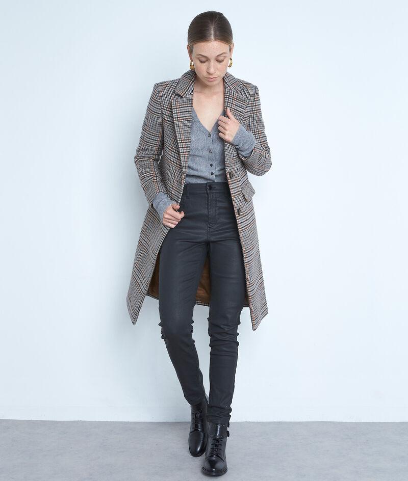 Jean slim enduit Suzy en coton noir  PhotoZ | 1-2-3