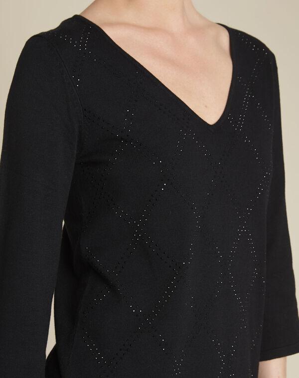 Zwarte tuniek met strassteentjes Brille (2) - 37653