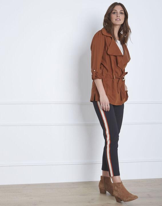 Pantalon noir bande latérale acajou Golden PhotoZ | 1-2-3