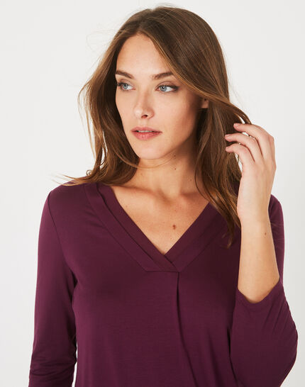Barbara dark purple T-shirt (3) - 1-2-3