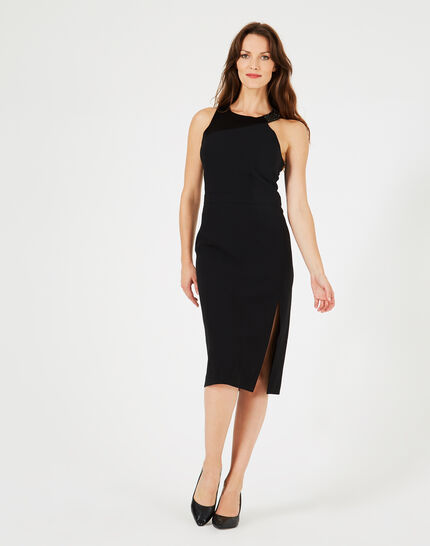 Grenade black dress with diamanté neckline (1) - 1-2-3