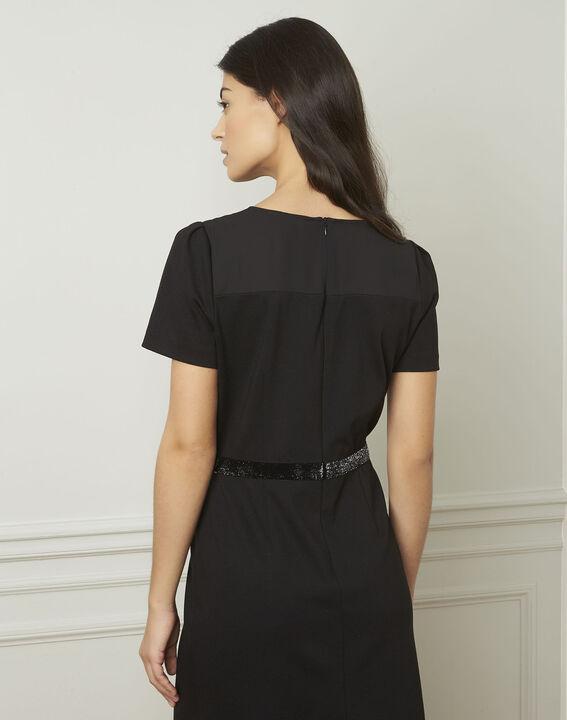 Zwarte jurk met strassteentjes Ness (3) - Maison 123