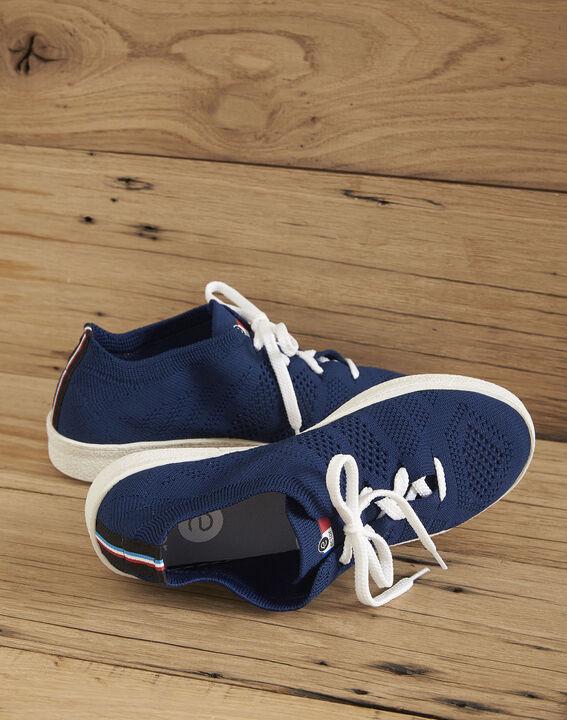 Marineblauwe sneakers met breiwerk Ector PhotoZ | 1-2-3