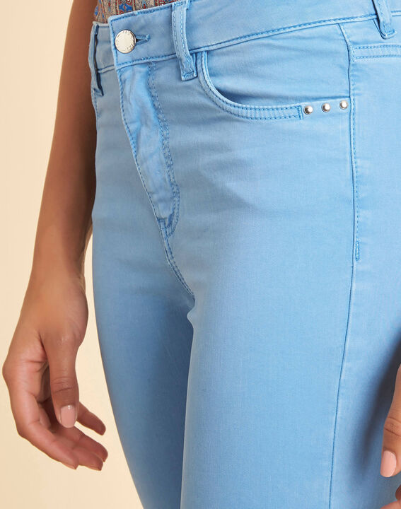 Blaue Washed Slim-Fit-Jeans normale Leibhöhe Vendome PhotoZ | 1-2-3