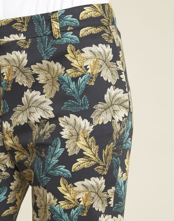 Viva tapered trousers with leaf print (3) - 1-2-3