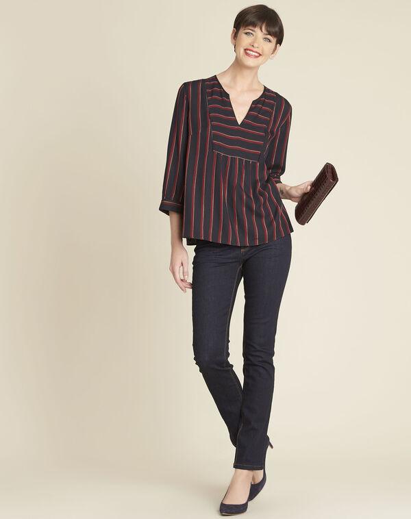 Rood gestreepte blouse Cristabelle (1) - 37653