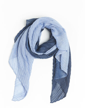 French iridescent navy blue scarf navy.