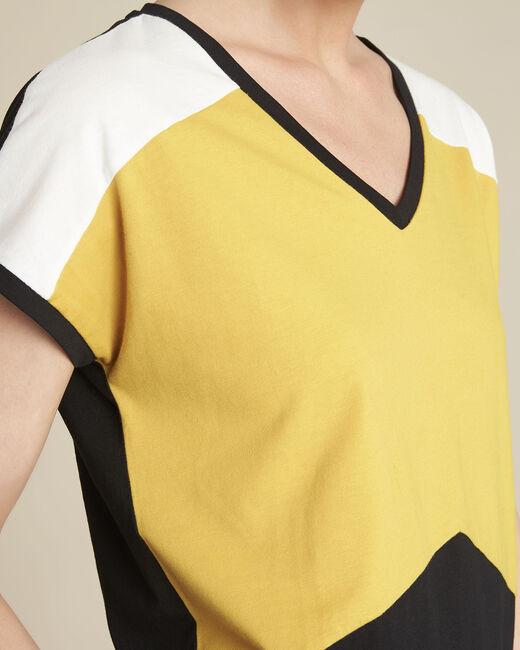 Tee-shirt jaune colorblock Garvine (2) - 1-2-3