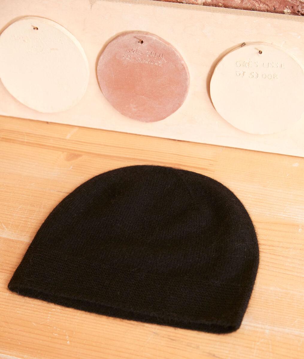 Bonnet en cachemire noir Urbain PhotoZ | 1-2-3