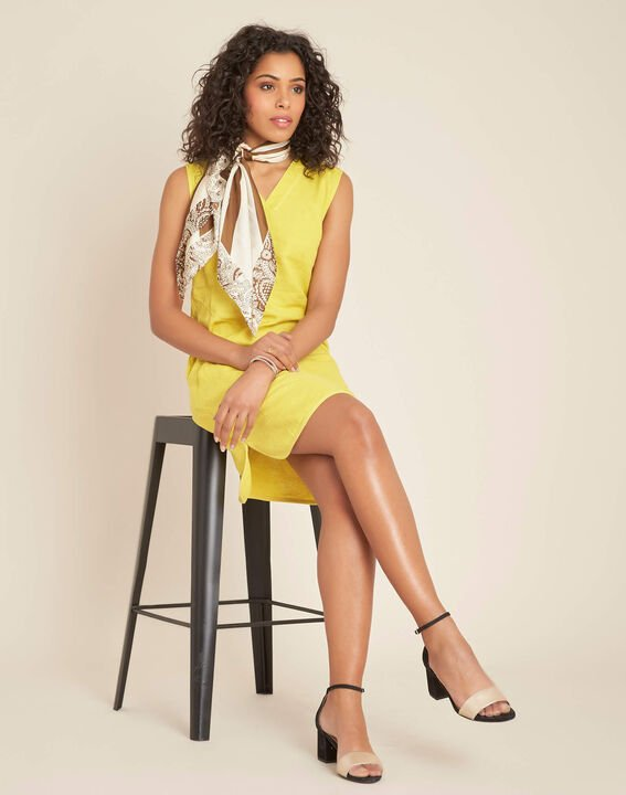 Pim yellow linen dress (2) - 1-2-3
