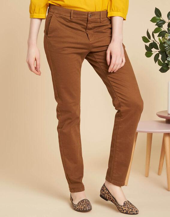 Pantalon marron chino Valentin (3) - 1-2-3
