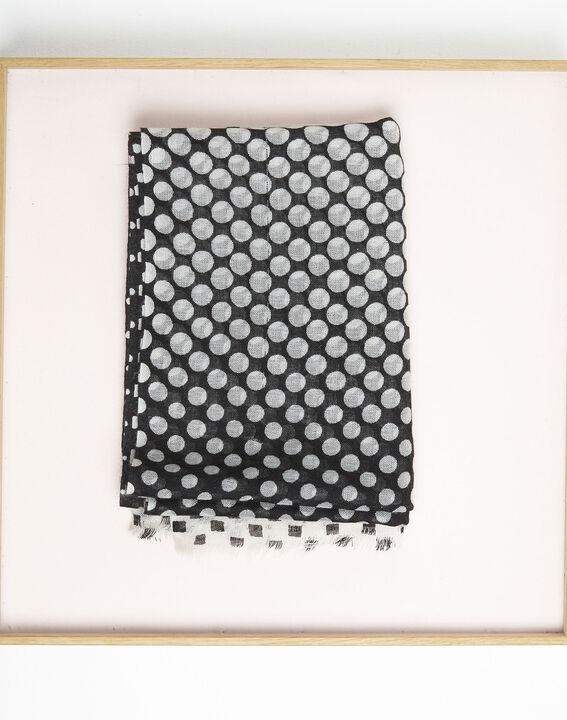 Ficus ochre scarf with polka dot print (1) - Maison 123