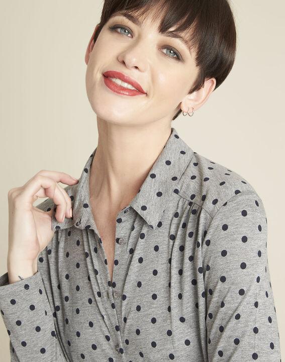Gaby grey polka dot print t-shirt (3) - Maison 123