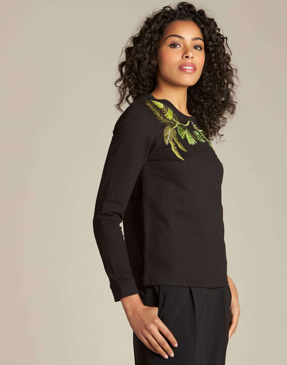 Electron black embroidered sweatshirt (3) - 1-2-3
