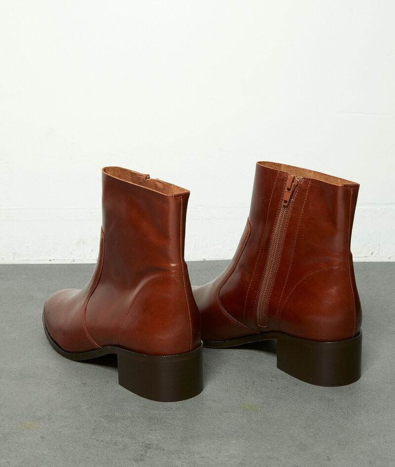Boots courtes en cuir marron Harmony PhotoZ | 1-2-3