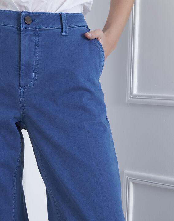 Kurze, ausgestellte Jeans in hellem Indigo-Blau Clara (3) - Maison 123