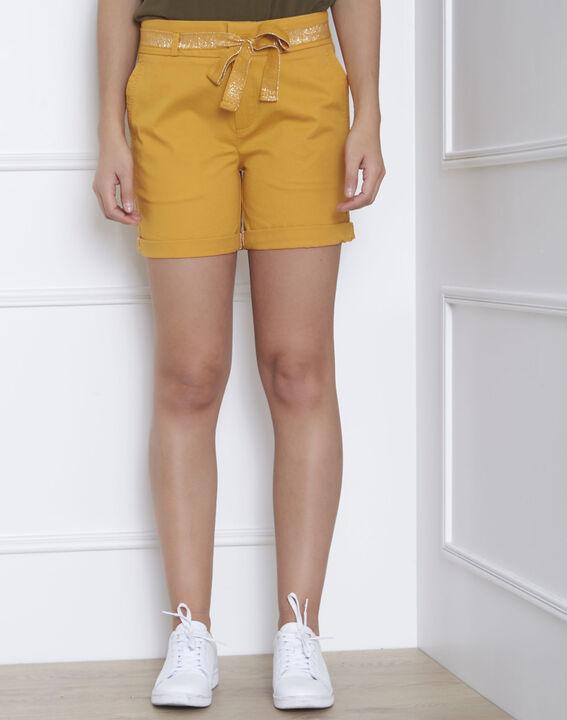 Short jaune coton ceinture James PhotoZ | 1-2-3