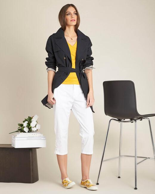 Gelbes Spitzen-T-Shirt Estelle (2) - 1-2-3